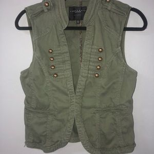 Sanctuary green olive army vest size small